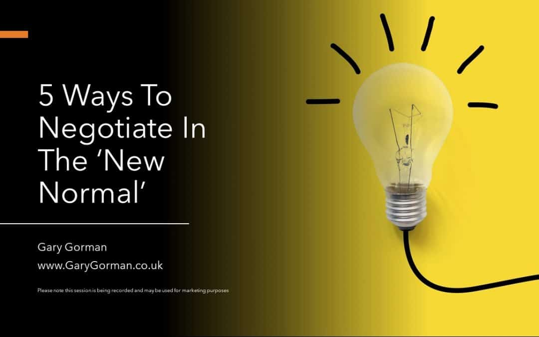 Five ways to negotiate in the 'new normal'